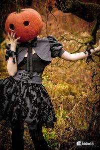Chromaggia wearing a pumpkin