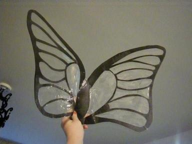 diy cellophane wing tutorial finished product