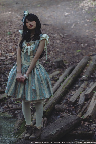 gloomth blue lolita dress