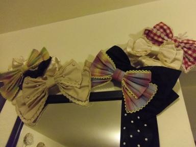lolita hair bows