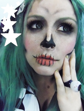 cute skeleton makeup