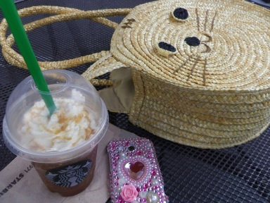Breakfast of champions! Soy frap' with whipped cream. :P