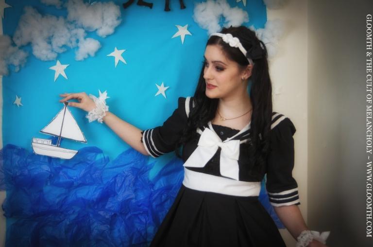 gloomth sailor lolita nautical dress