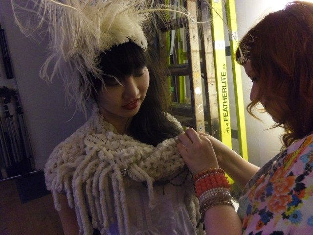 gloomth photoshoot behind the scenes ellie model feathers high fashion shoot stylist taeden