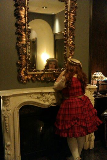 red plaid lolita
