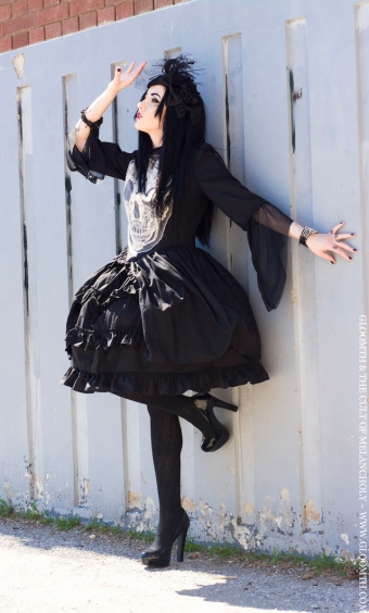 skull dress by gloomth lucy lovesick model canada