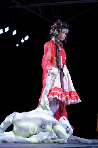 gloomth medic dress in anime north fashion show toronto