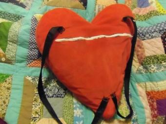 diy heart backpack tutorial