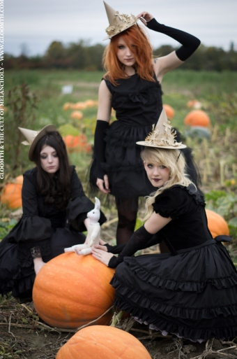 gloomth halloween teen witch pumpkin patch goth gothic girls