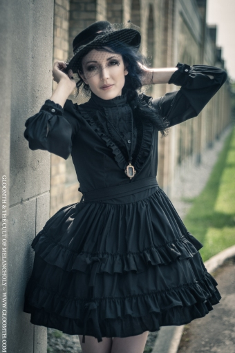 victorian mourning gothic lolita dress gloomth