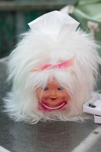 miss tissue head vintage tissue box cover doll