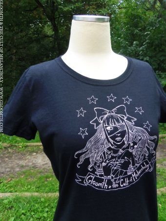 gloomth t shirt handmade gothic lolita fashion eyepatch taeden hall