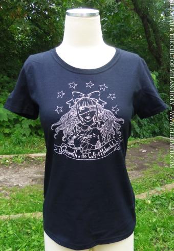 gloomth lolita cutsew gothic eyepatch tshirt