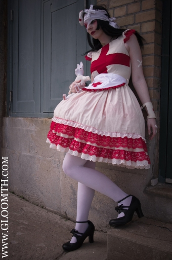 gurololita halloween nurse dress gloomth