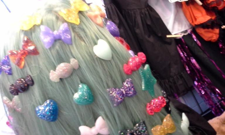 glitter hair clips gloomth