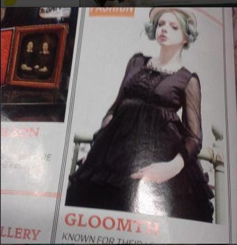gothic beauty magazine gloomth fine lines model