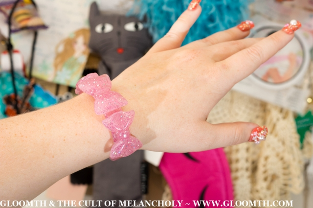 plastic glitter lolita bangle by gloomth