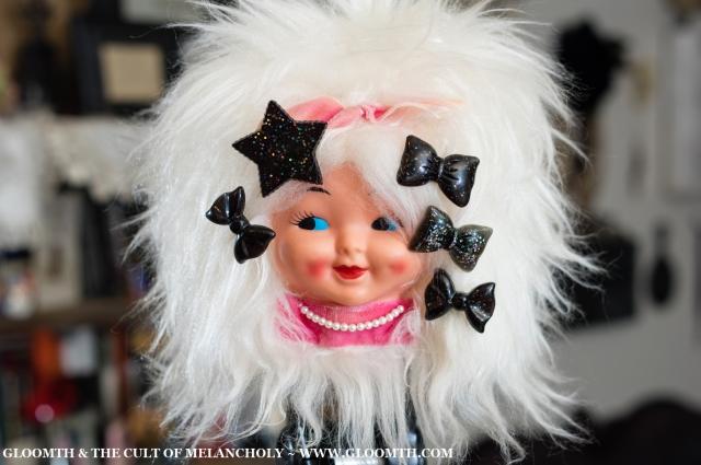 plastic glitter hair clip set by gloomth lolita