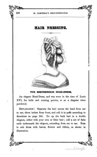 victorian hairwork hair pieces