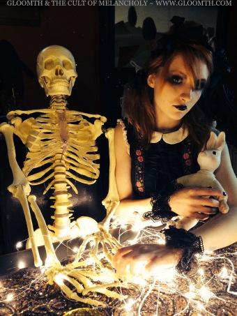 goth girl valentine skeleton gothic