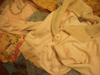 vintage cardigan and other pieces
