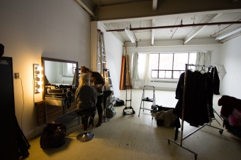 behind the scenes at a gloomth photoshoot