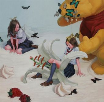 kazuhiro hori candy schoolgirl painting