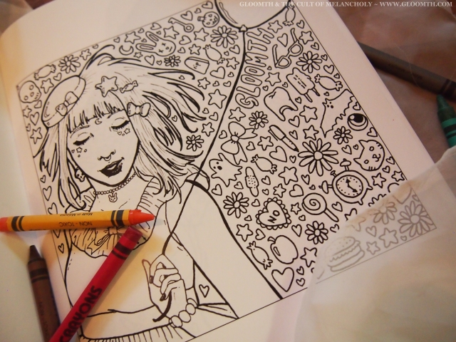adult goth coloring book gloomth taeden hall