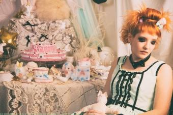 gloomth retro lolita prom dress mint green