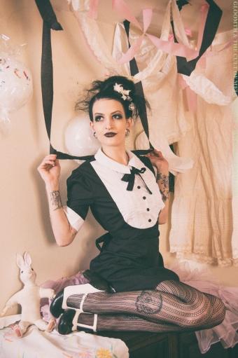 vintage mod tuxedo dress by gloomth