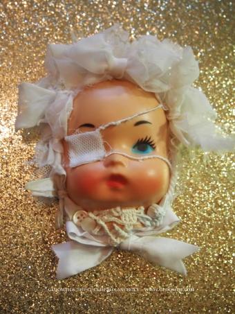 gurololita doll face hairpiece fascinator