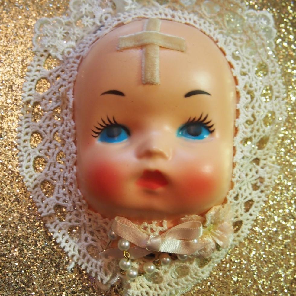 vintage doll face hat
