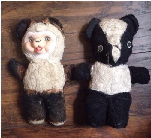 crusty old stuffed toys