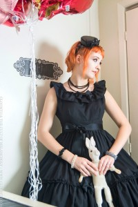 gothic bridesmaid dress