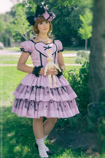 pastel purple gothic lolita dress