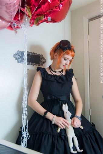 goth bridesmaid dress