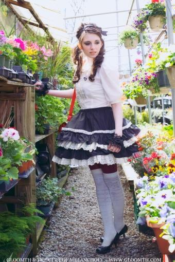 retro lolita skirt
