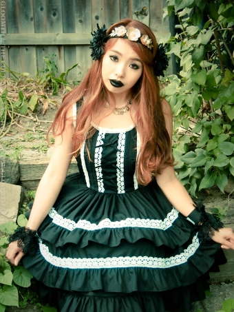 black and white gothic dress