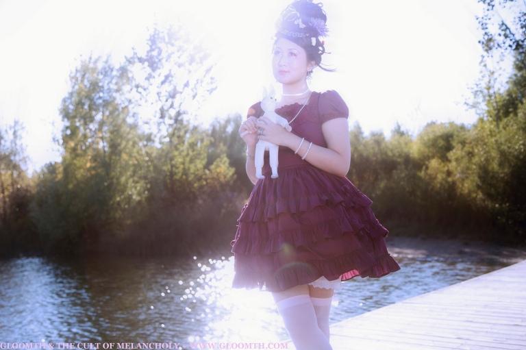 lolita summer photoshoot gloomth