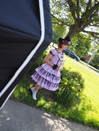 behind the scenes at lolita fashion photoshoot gloomth