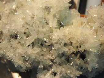 close up crystal formation