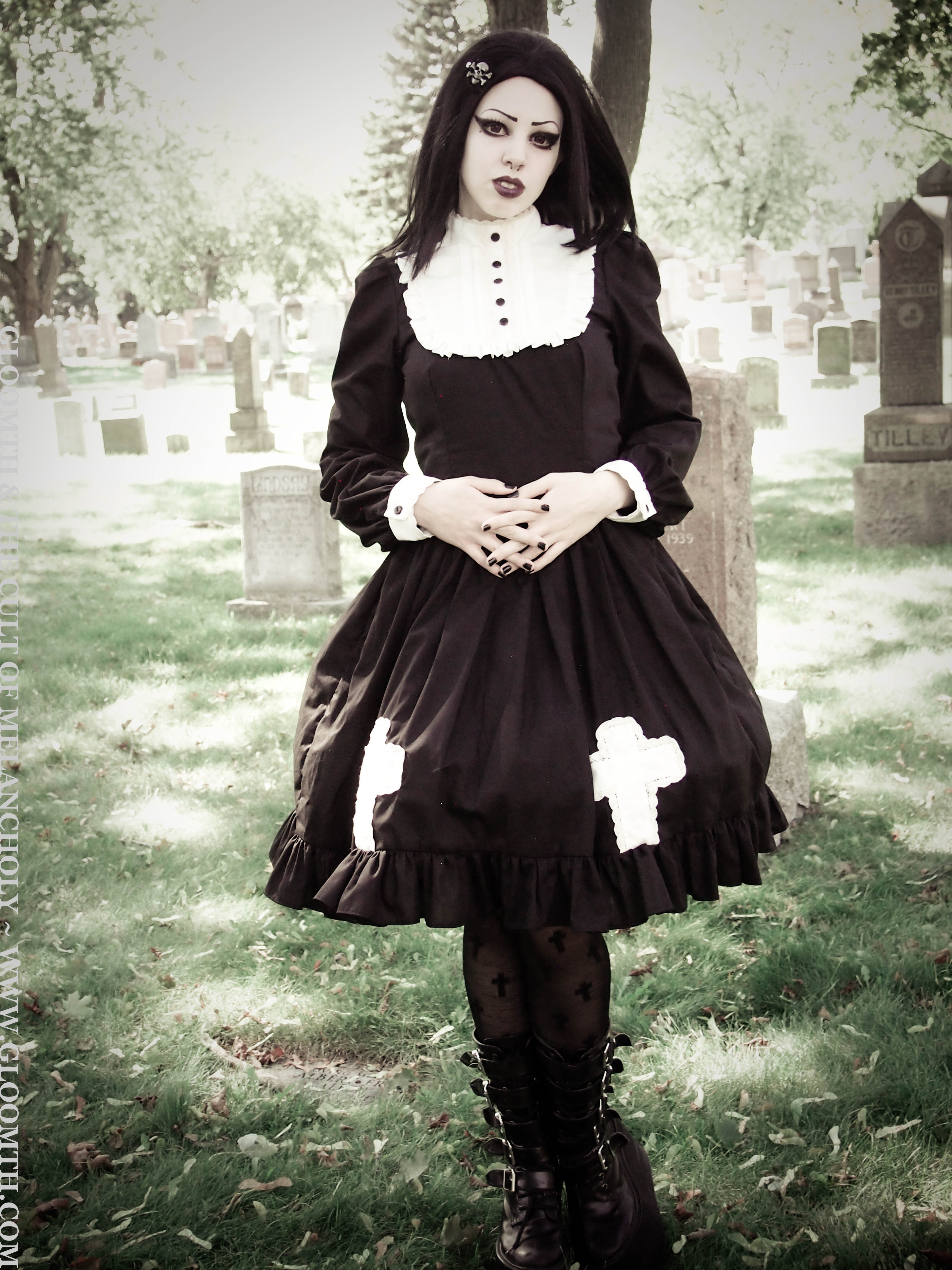 New Gothic Cemetery Photoshoot Gloomth The Cult Of