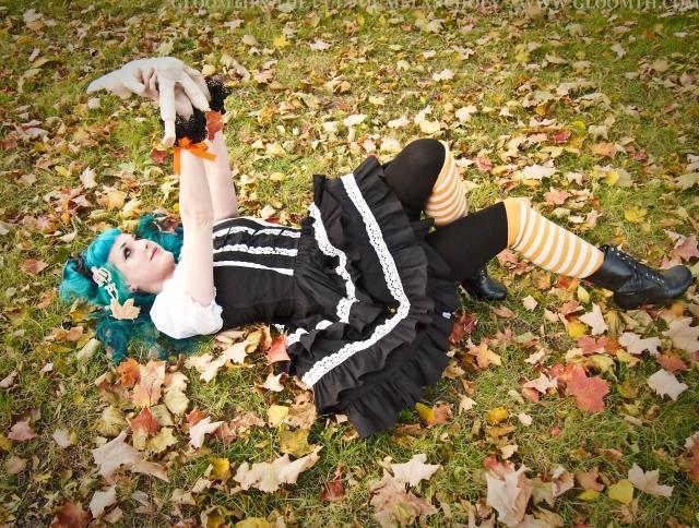 black and white lolita dress gloomth