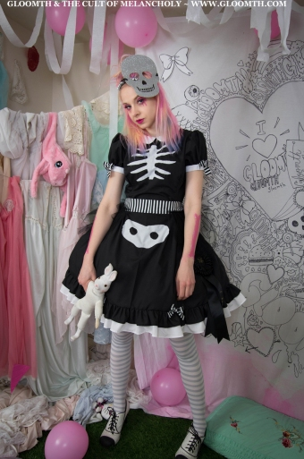kawaii skeleton dress