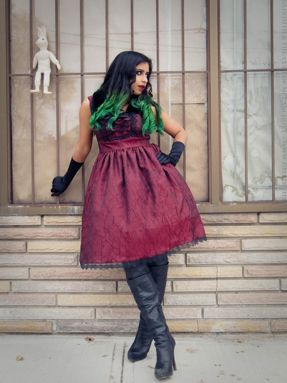 gloomth gothic babydoll dress