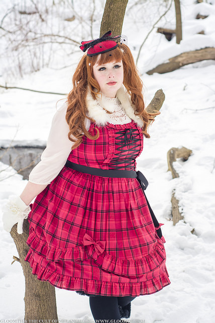 red plaid dress gloomth
