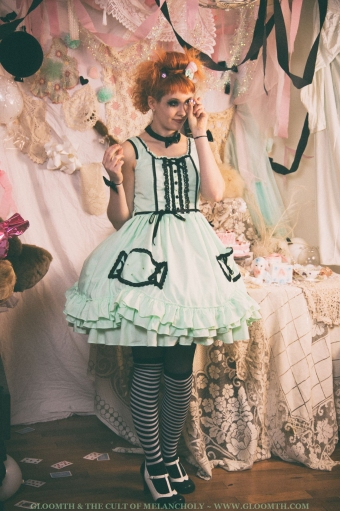gothic candy dress
