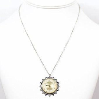 velvet mechanism steampunk necklace clock