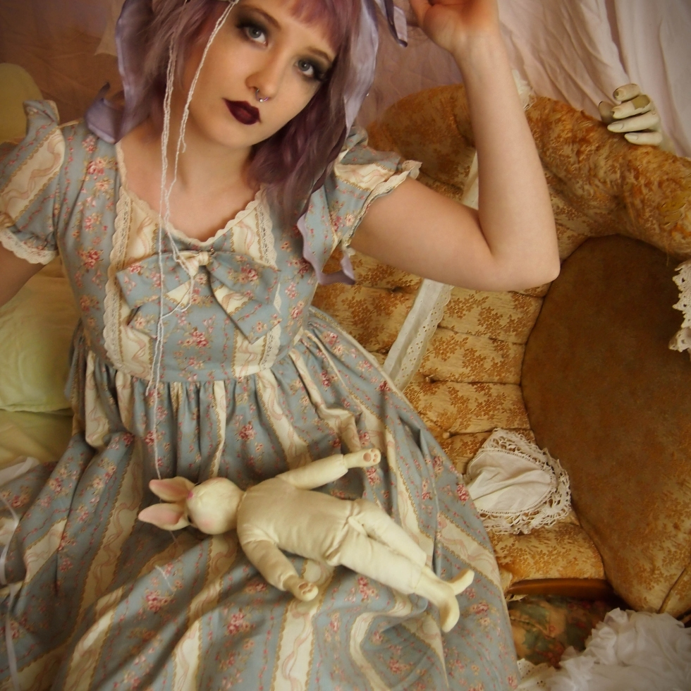 antique doll dress by gloomth