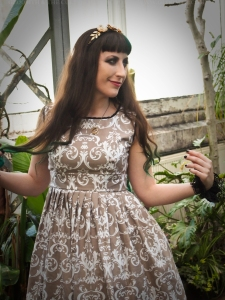 gothic damask bridesmaid dress by gloomth